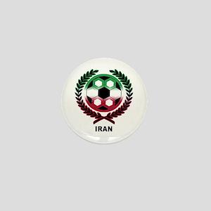 Iran World Cup Soccer Wreath Mini Button