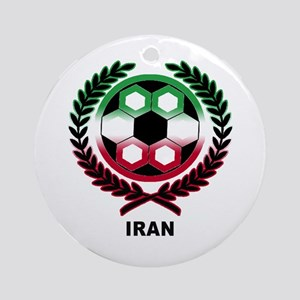Iran World Cup Soccer Wreath Ornament (Round)