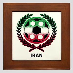 Iran World Cup Soccer Wreath Framed Tile