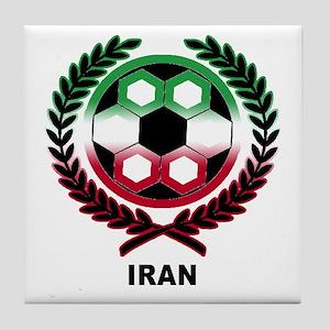 Iran World Cup Soccer Wreath Tile Coaster