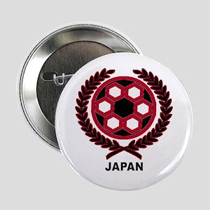 Japan World Cup Soccer Wreath Button