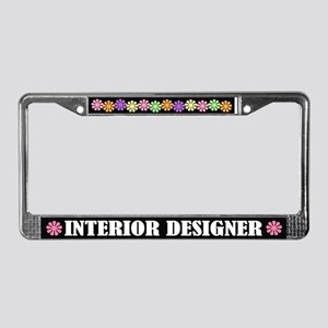 Interior Designer License Plate Frame