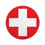 "Original Red Cross 3.5"" Button (100 pack)"