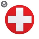 "Original Red Cross 3.5"" Button (10 pack)"