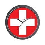 Original Red Cross Wall Clock