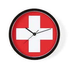 Original Red Cross Wall Clock