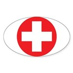 Original Red Cross Sticker (Oval 10 pk)