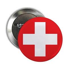 """Original Red Cross 2.25"""" Button (10 pack)"""