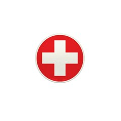Original Red Cross Mini Button (100 pack)