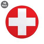 """Original Red Cross 3.5"""" Button (10 pack)"""