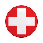 """Original Red Cross 3.5"""" Button (100 pack)"""