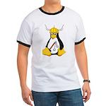 Tux the Viking Penguin Ringer T