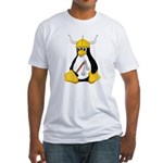 Tux the Viking Penguin Fitted T-Shirt