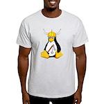 Tux the Viking Penguin Light T-Shirt