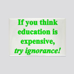 Education quote (green) Rectangle Magnet