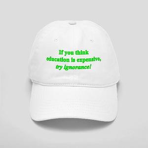 Education quote (green) Cap