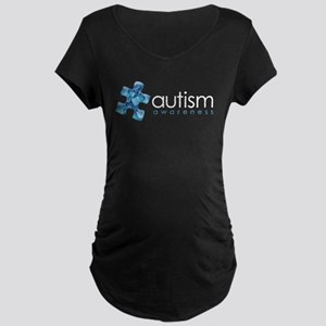 PuzzlesPuzzle (Blue) Maternity Dark T-Shirt
