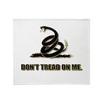 Dont tread on me Throw Blanket