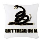Dont tread on me Woven Throw Pillow