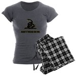 Dont tread on me Women's Charcoal Pajamas