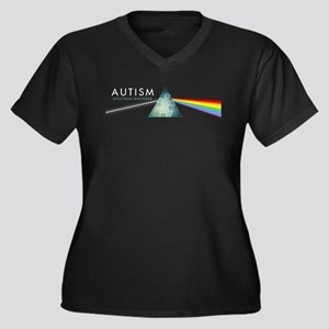 Autism Spectrum Women's Plus Size V-Neck Dark T-Sh