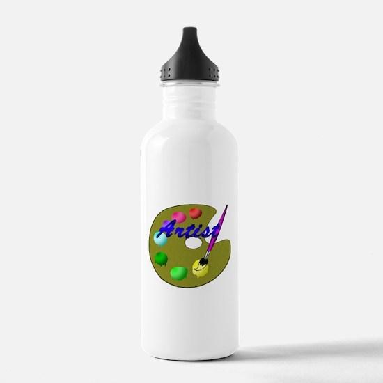 Funny School arts Water Bottle