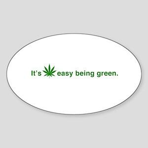 It's Easy Being Green Sticker (Oval 10 pk)