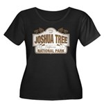Joshua T Women's Plus Size Scoop Neck Dark T-Shirt