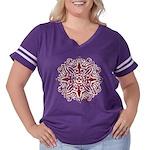 Outdoor Energy Women's Plus Size Football T-Shirt