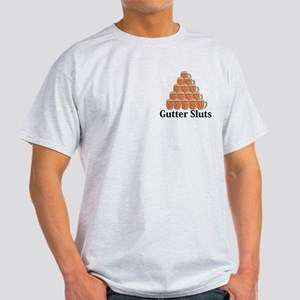Gutter Sluts Logo 7 Light T-Shirt Design Front Poc