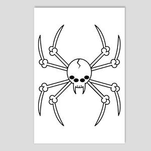 Spider Skull Postcards (Package of 8)