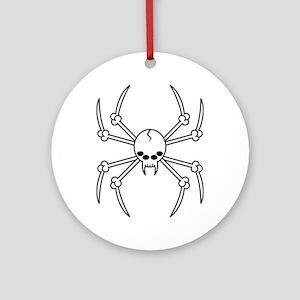 Spider Skull Ornament (Round)