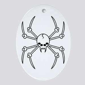 Spider Skull Ornament (Oval)