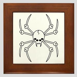 Spider Skull Framed Tile