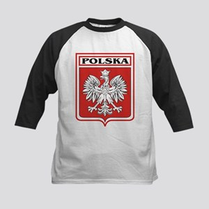 Polska Shield / Poland Shield Kids Baseball Jersey