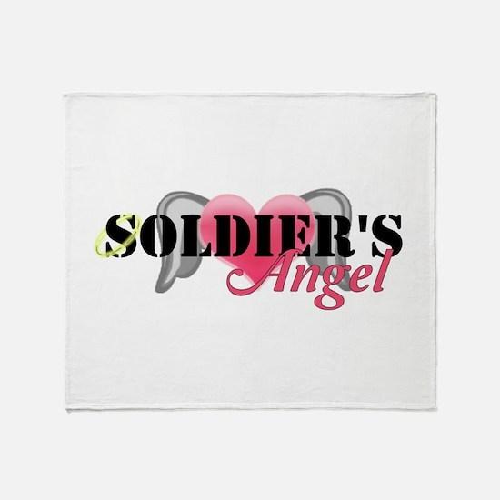 Soldiers Angel Throw Blanket