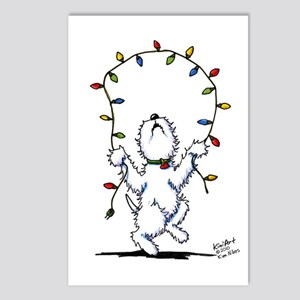 Joyful Christmas Westie Postcards (Package of 8)