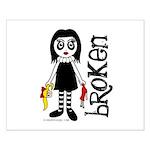 Broken Goth Doll Small Poster