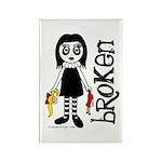 Broken Goth Doll Rectangle Magnet (100 pack)