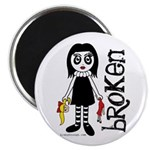 Broken Goth Doll Magnet