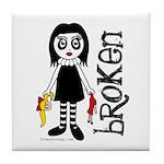 Broken Goth Doll Tile Coaster