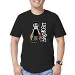 Broken Goth Doll Men's Fitted T-Shirt (dark)