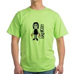 Broken Goth Doll Green T-Shirt