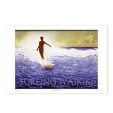 Surfing Waikiki Postcards (Package of 8)