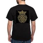 Johann Sebastian Bach Royal Seal Black T-Shirt