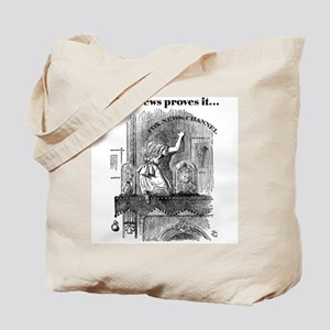 Double-Sided Alice & Fox News Tote Bag
