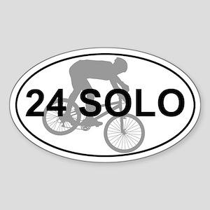 24 Solo Mountain Bike Race Sticker (Oval)