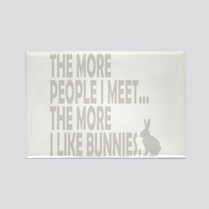 THE MORE PEOPLE I MEET... THE Rectangle Magnet