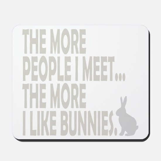 THE MORE PEOPLE I MEET... THE Mousepad