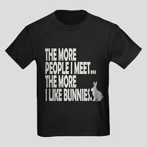 THE MORE PEOPLE I MEET... THE Kids Dark T-Shirt